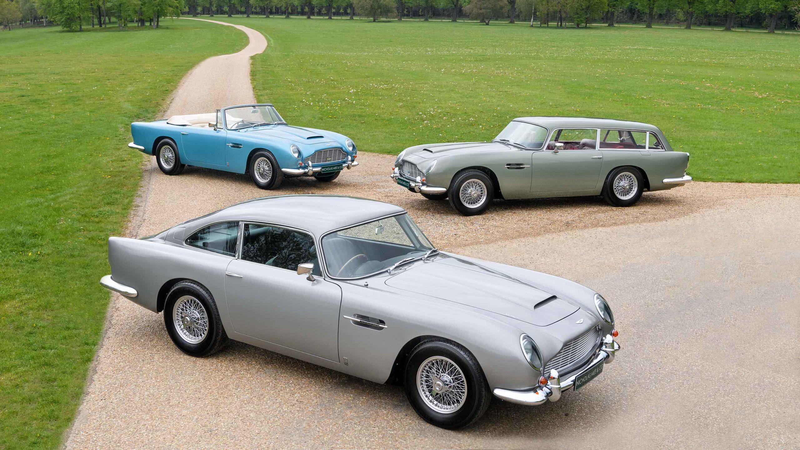 Aston Martin DB5 Coupe Convertible and Shooting Brake