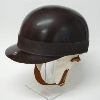 Product image for Juan Manuel Fangio helmet, full size 'exact' replica,