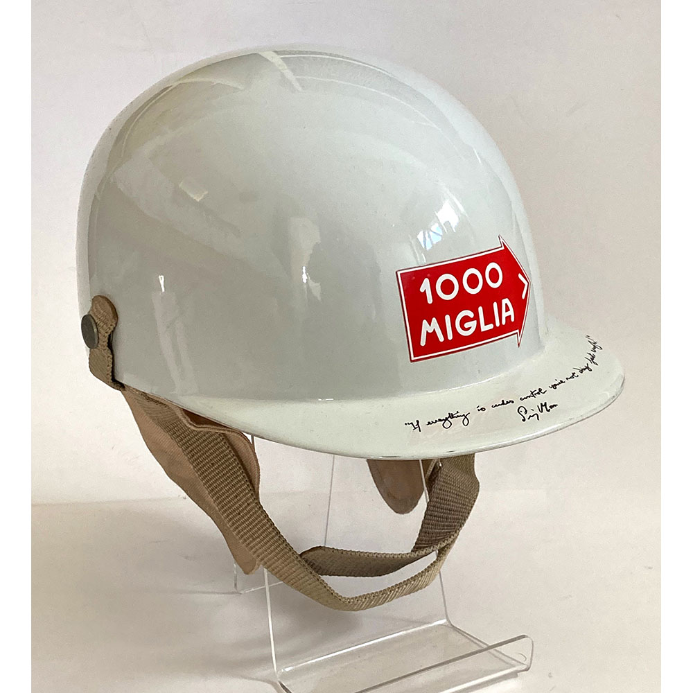 Product image for Stirling Moss signed Mille Miglia race-used helmet by Jebs