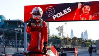 Leclerc takes pole in crash-strewn 2021 Azerbaijan GP Qualifying