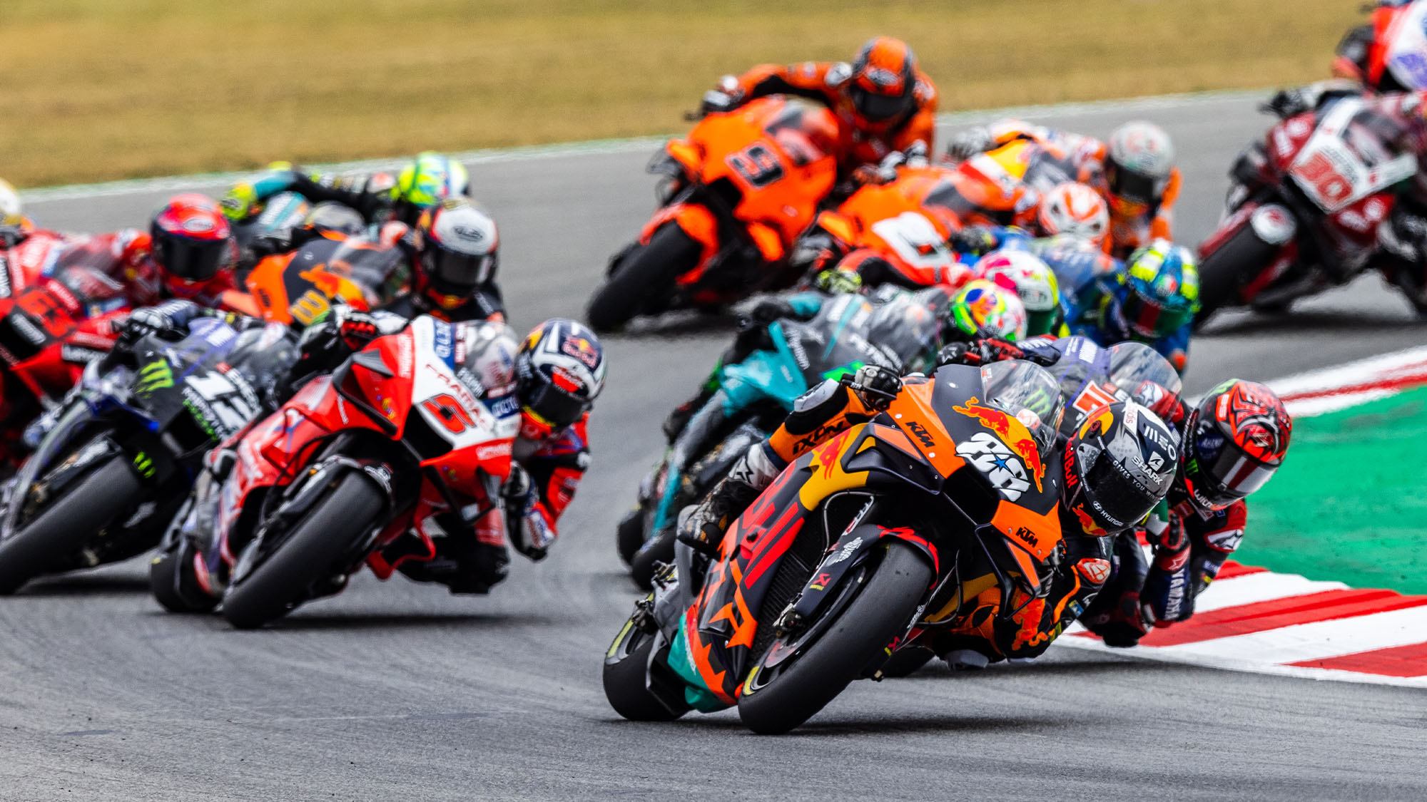 Miguel Oliveira leads at the 2021 MotoGP Catalan Grand prix