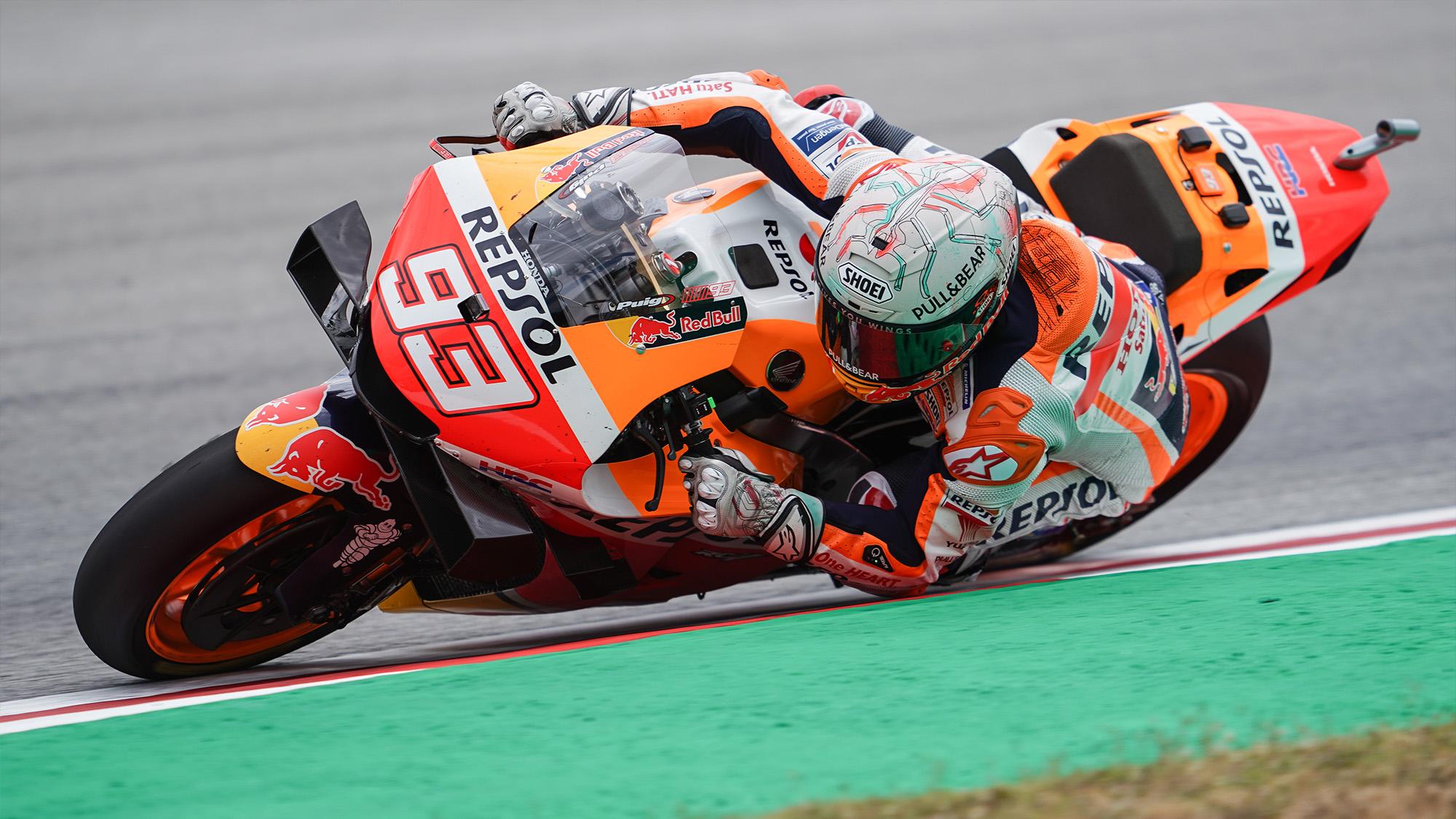 Marc Marquez in the 2021 MotoGP Catalan Grand Prix