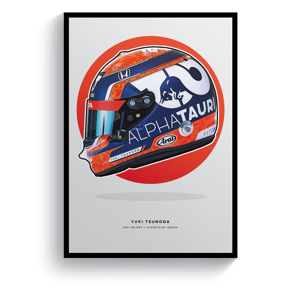 Product image for Yuki Tsunoda | 2021 Formula 1 Helmet | Print