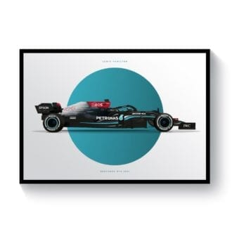 Product image for Lewis Hamilton | Mercedes W12 2021 Formula 1 Car | Print