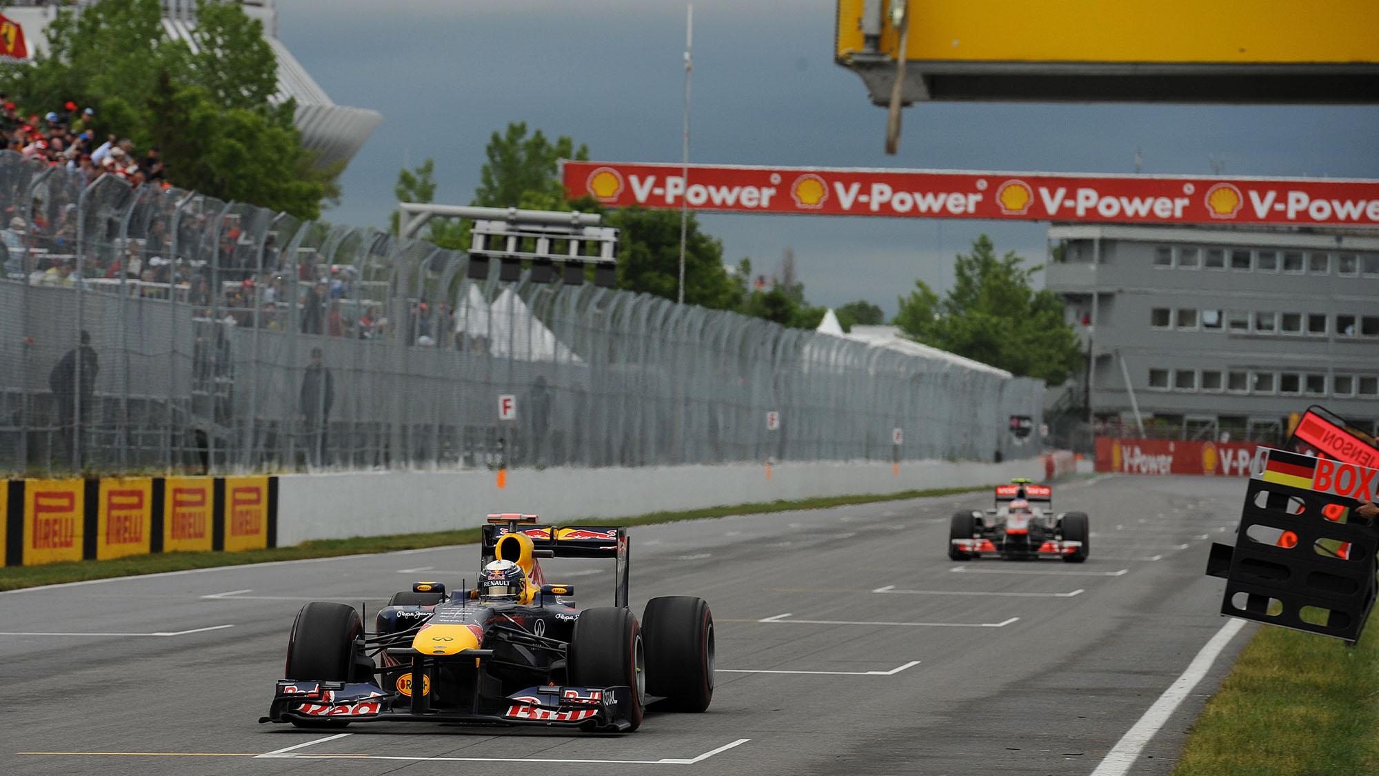 Vettel Button Canada 2011