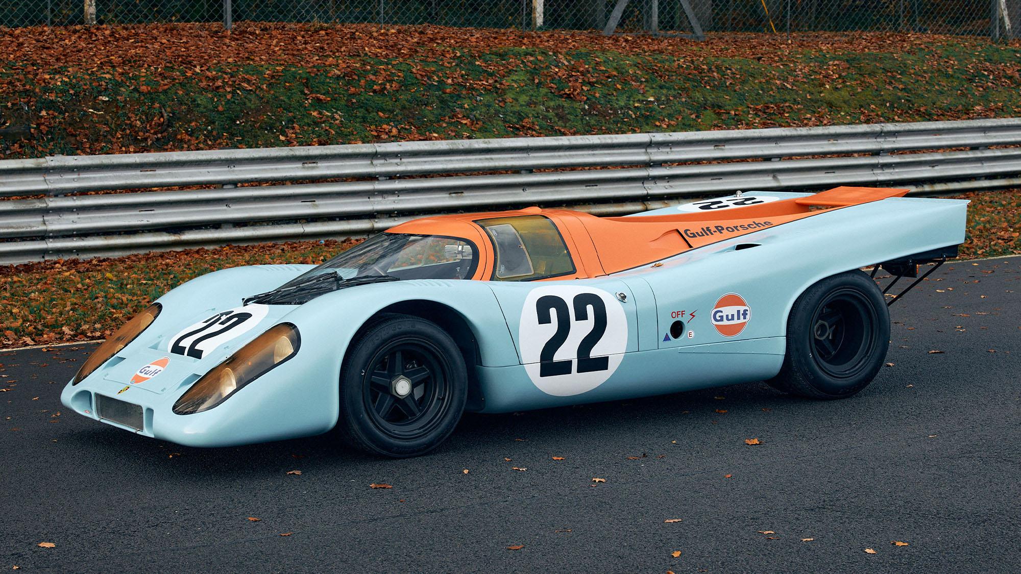 Static view of ex Mike Hailwood Porsche 917K