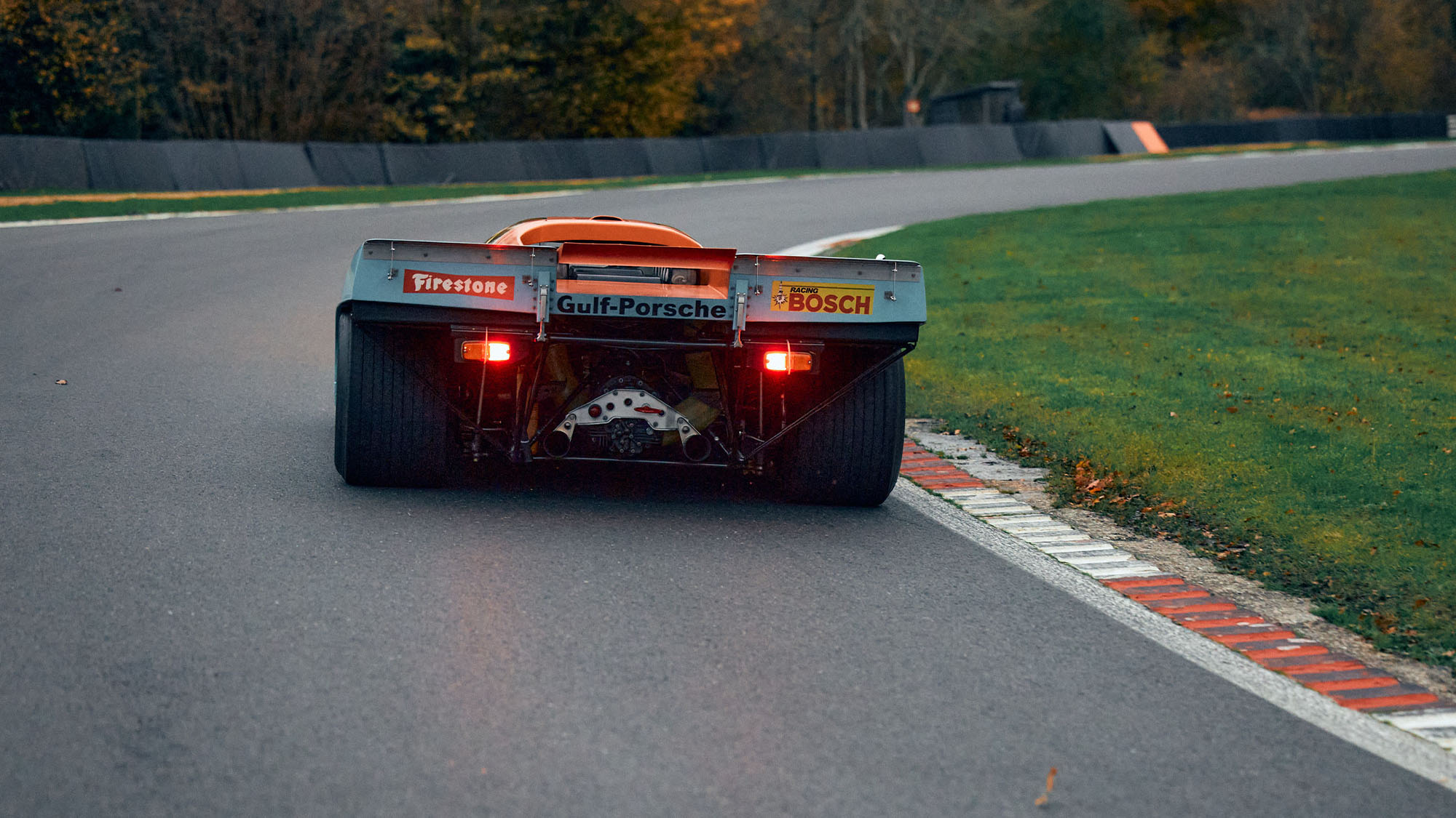 Rear view of ex Mike Hailwood Porsche 917K