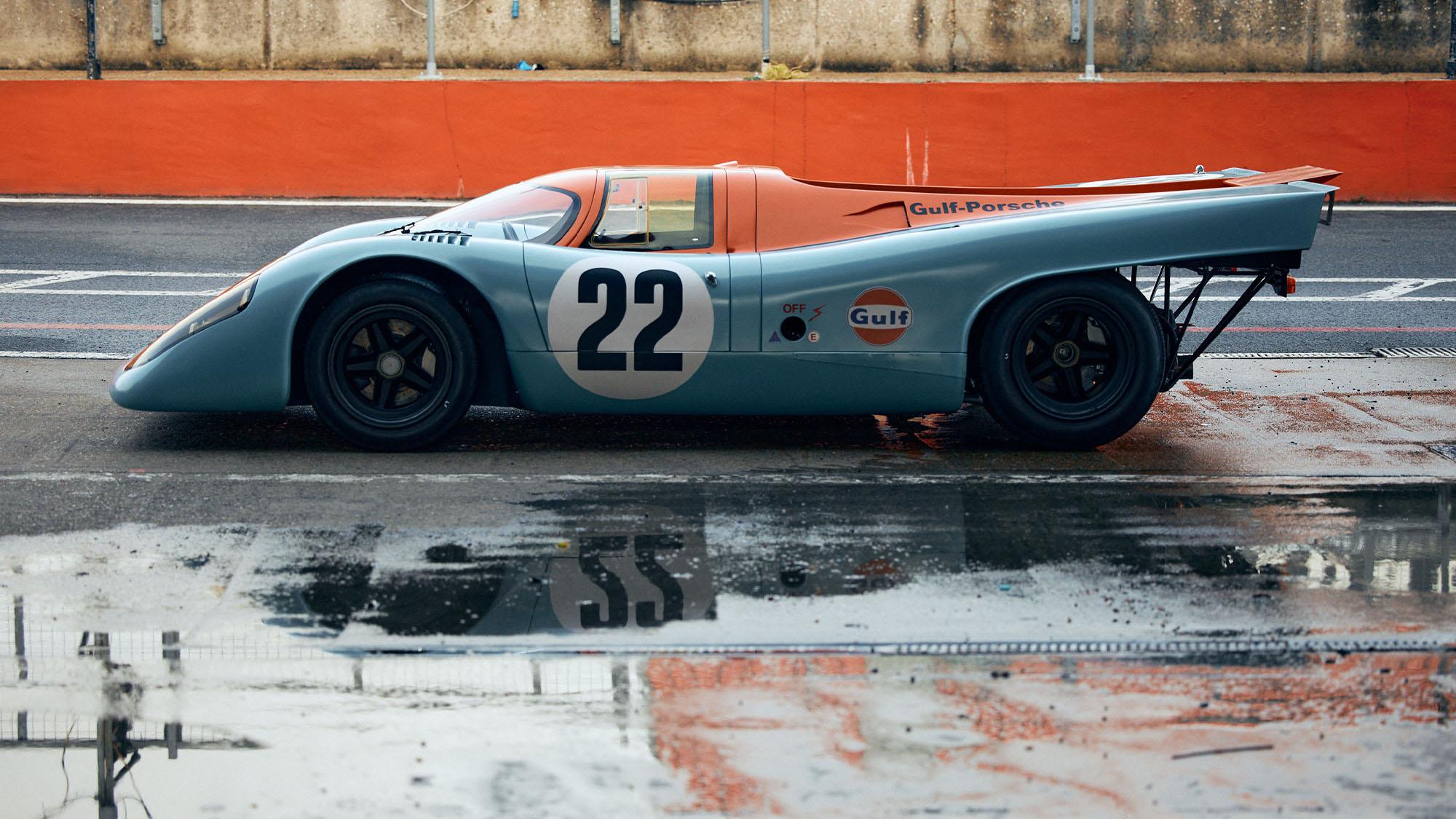 Side view of ex Mike Hailwood Porsche 917K