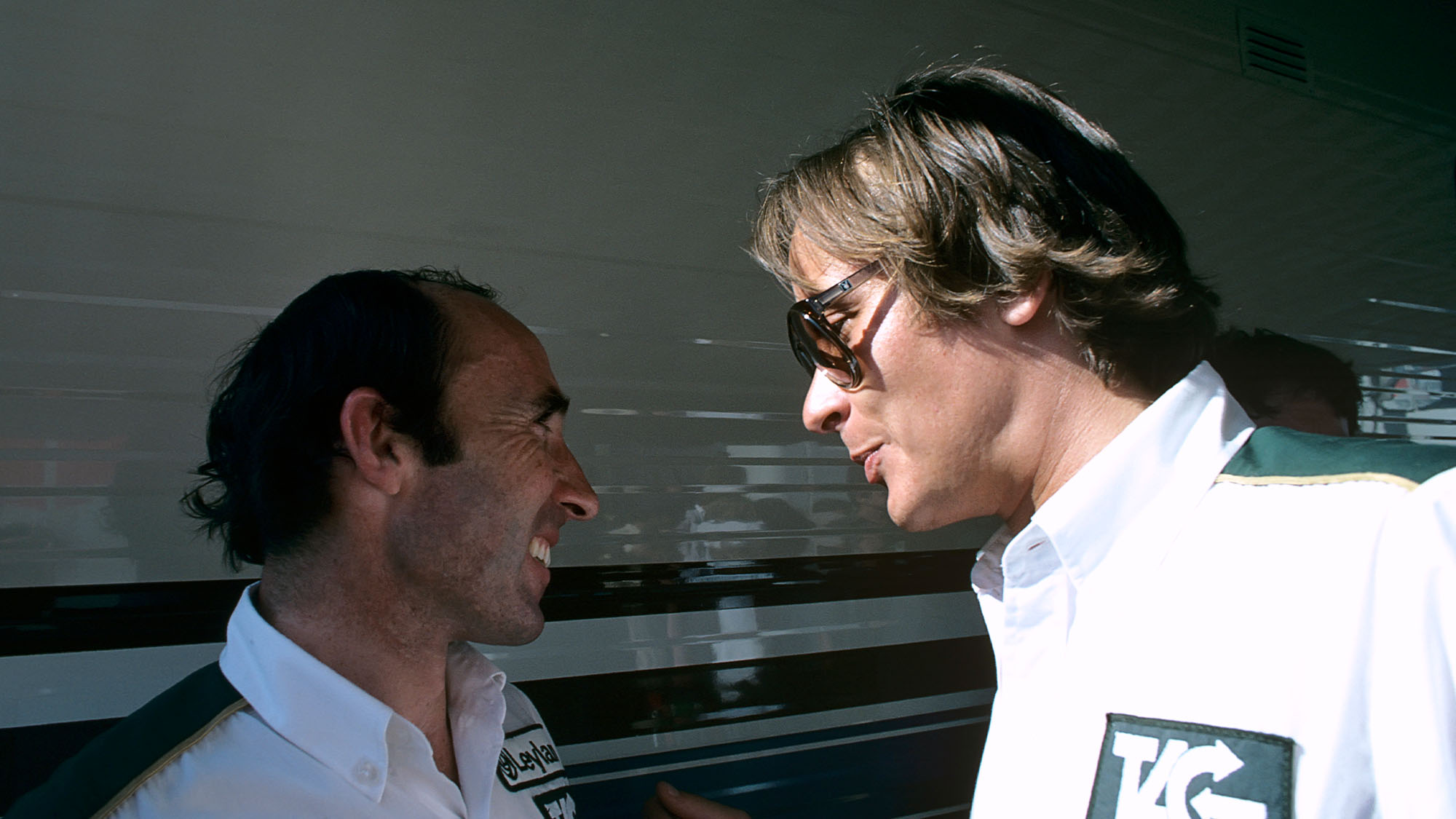 Frank Williams, Mansour Ojjeh, Grand Prix of Canada, Circuit Gilles Villeneuve, 28 September 1980. Frank Williams and TAG president Mansour Ojjeh. (Photo by Paul-Henri Cahier/Getty Images)