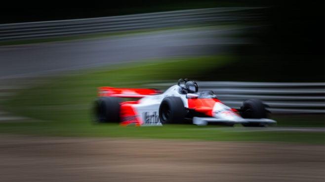 Still dominating: John Watson's Detroit GP-winning McLaren MP4/1