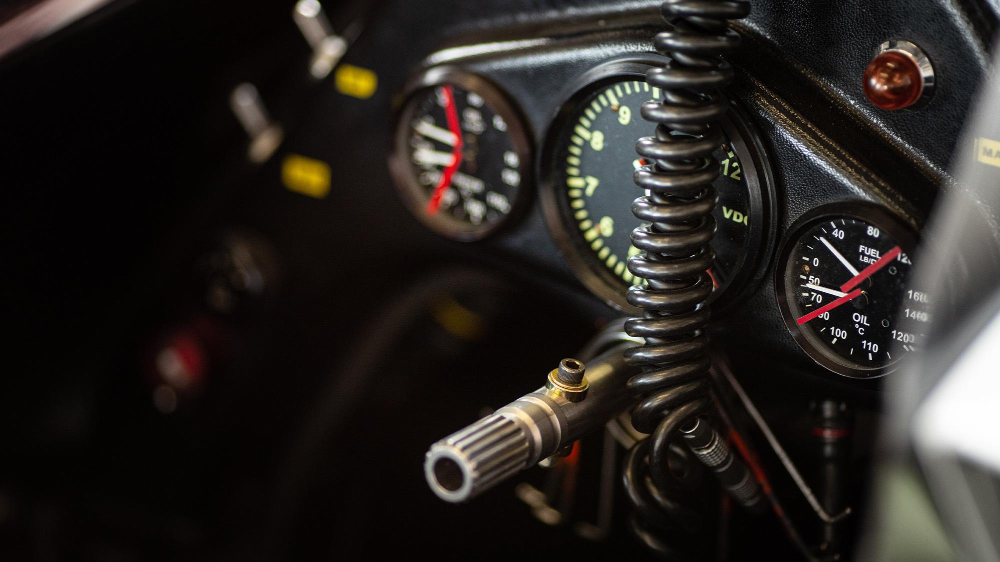 Steve Hartley McLaren MP4-1 at Brands Hatch 2021 dials