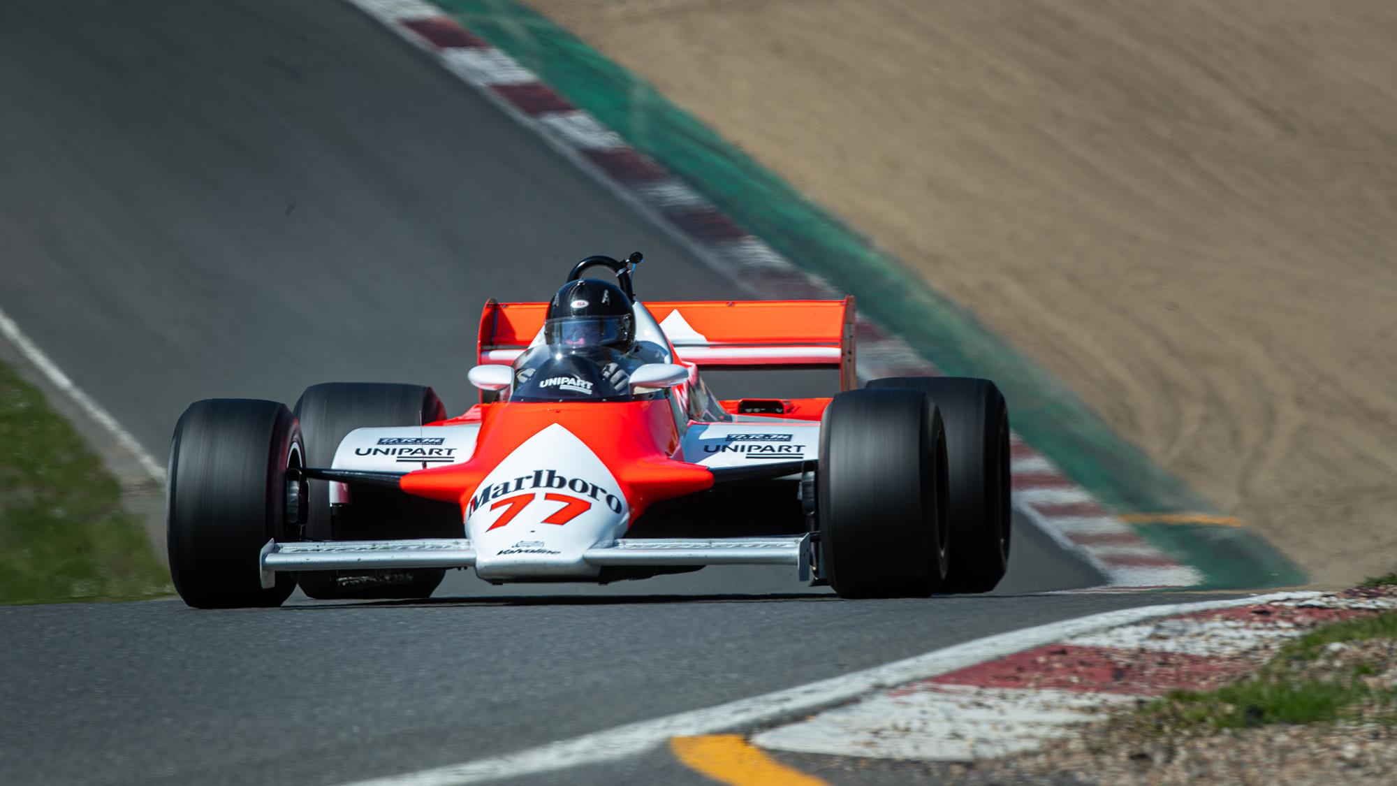 Steve Hartley McLaren MP4-1 at Brands Hatch 2021 - paddock hill