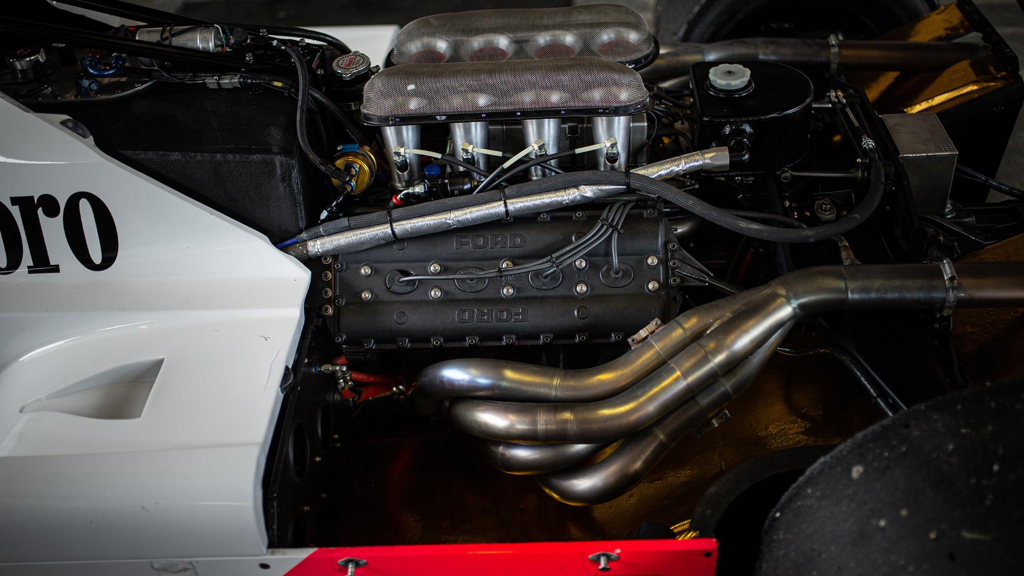 Steve Hartley McLaren MP4-1 at Brands Hatch 2021 - engine