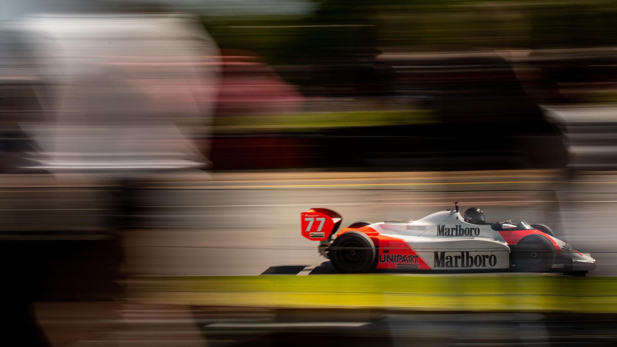 Steve Hartley McLaren MP4-1 at Brands Hatch 2021 - side