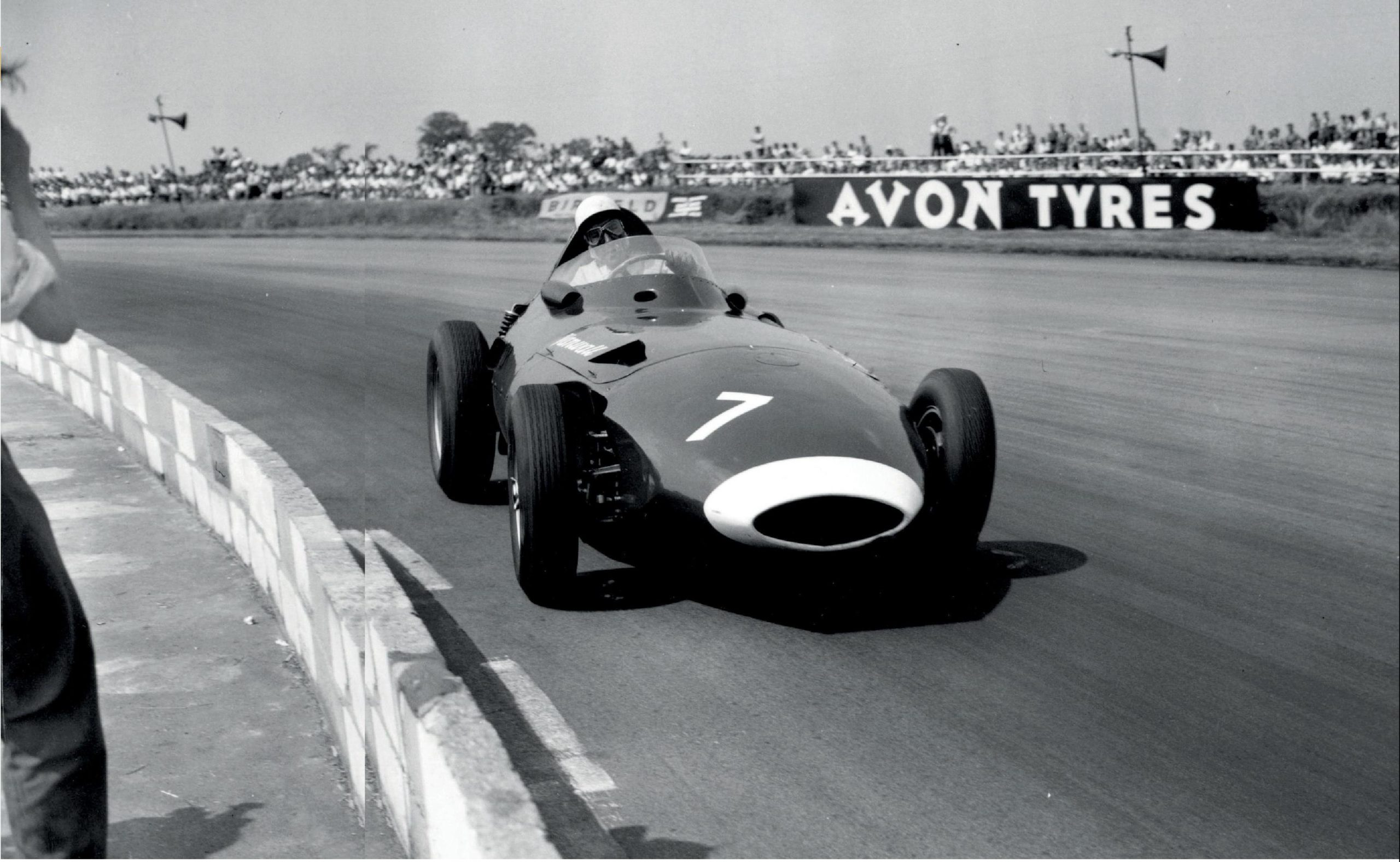 Stirling Moss at the British Grand Prix in 1958