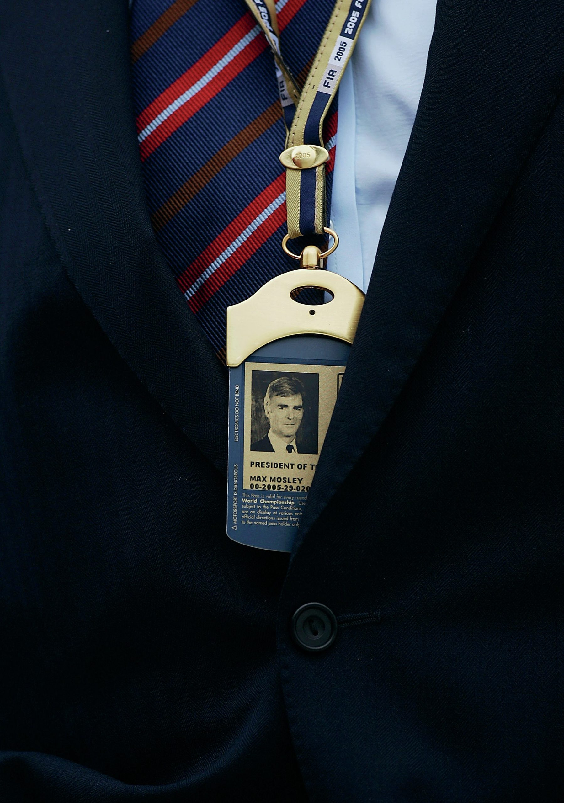 Max Mosley F1 pass