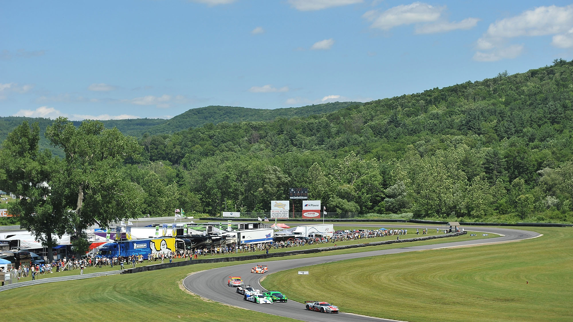 LAKEVILLE, CT - JULY 09: Scenic overview of Lime Rock Park during the American LeMans Northeast Grand Prix at Lime Rock Park on July 9, 2011 in Lakeville, Connecticut. (Photo by Rick Dole/Getty Images)