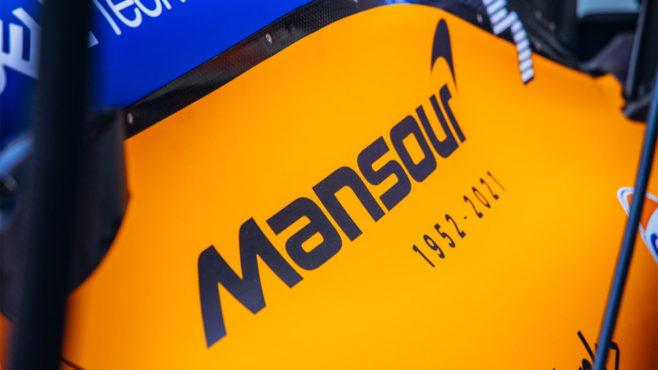 McLaren runs Mansour Ojjeh's name on side of F1 car in tribute to key shareholder