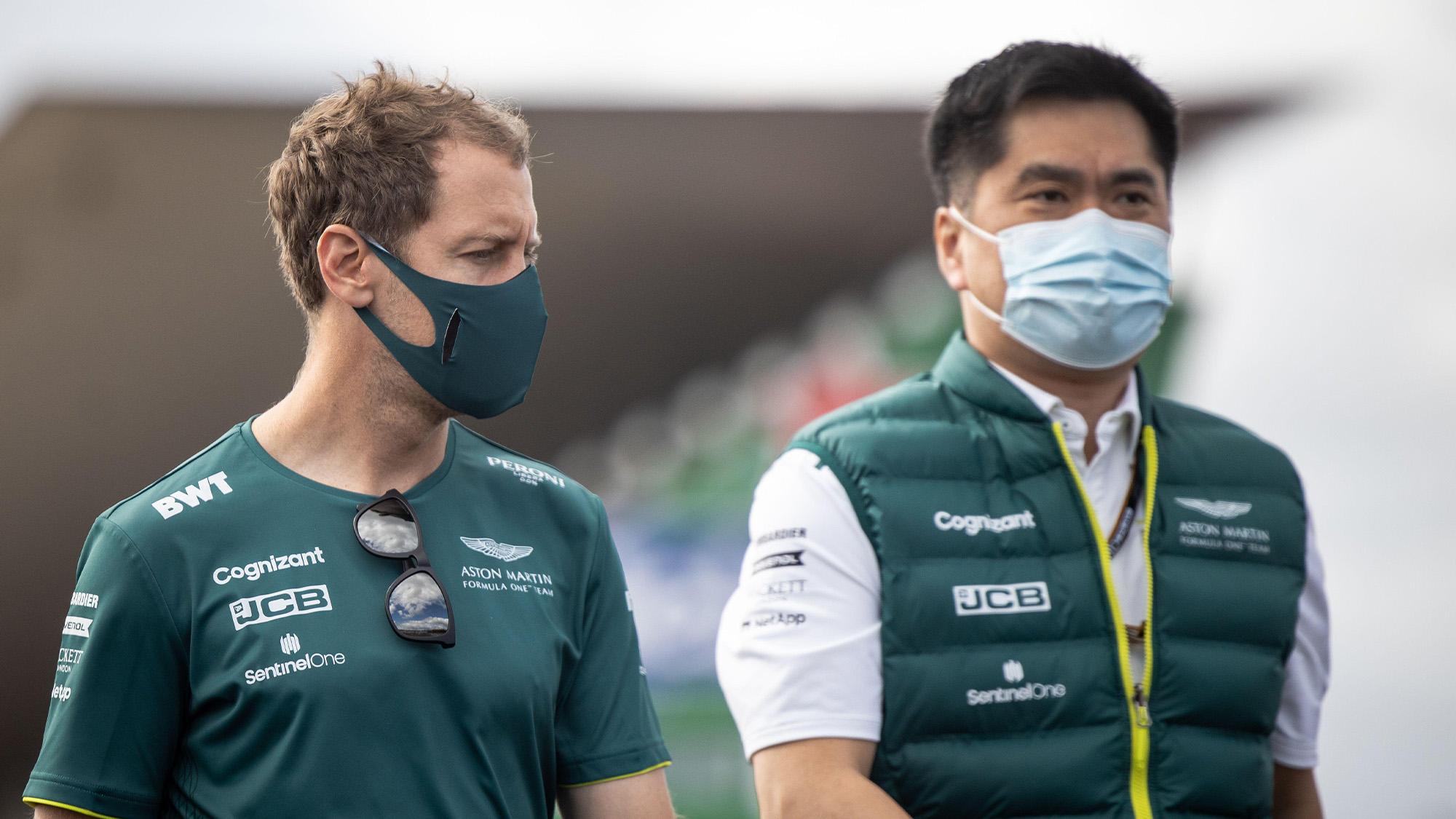 Sebastian Vettel with Jan Matsuzaki