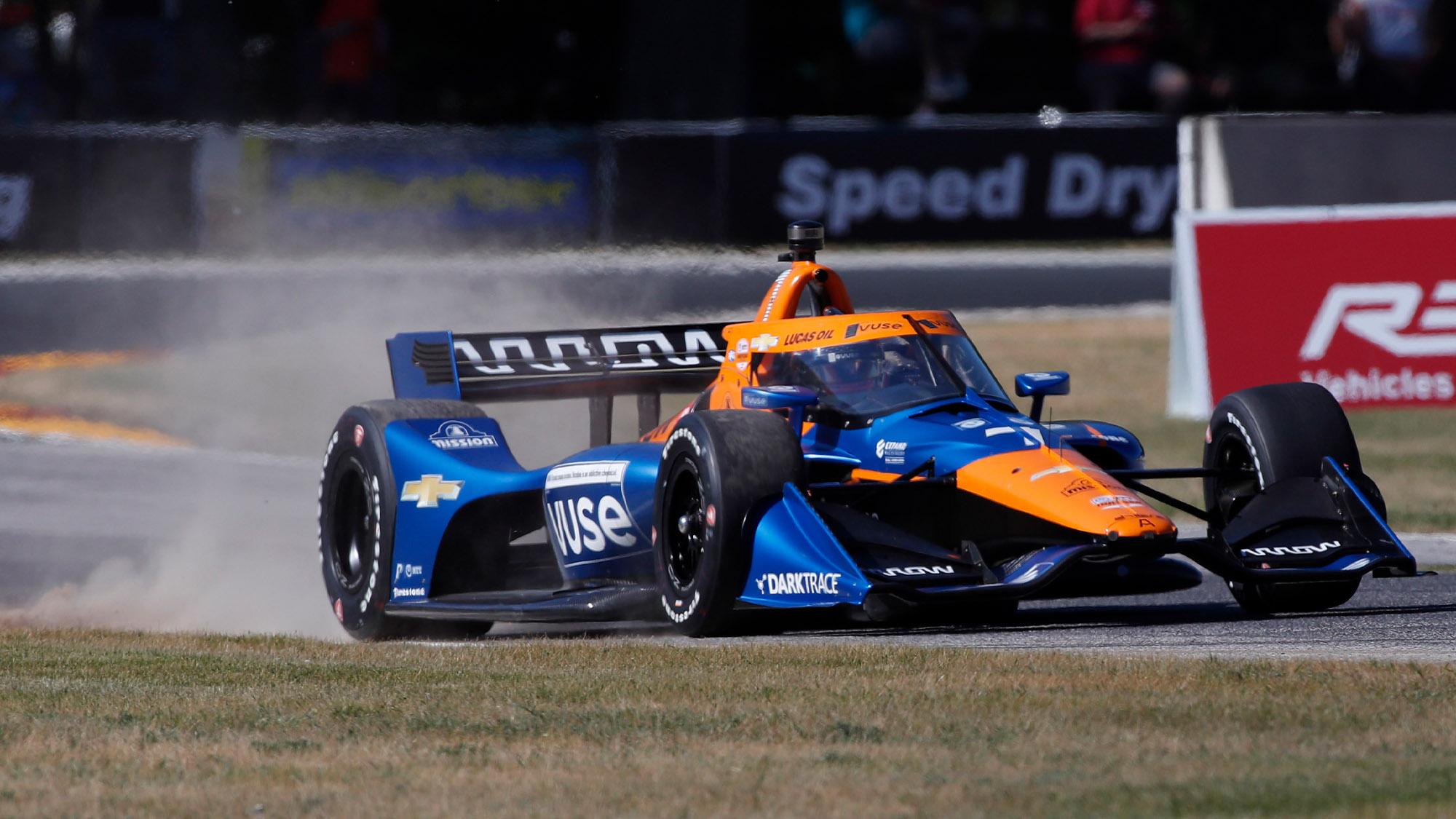 Kevin Magnussen locks up Arrow McLaren IndyCar at Road America in 2021