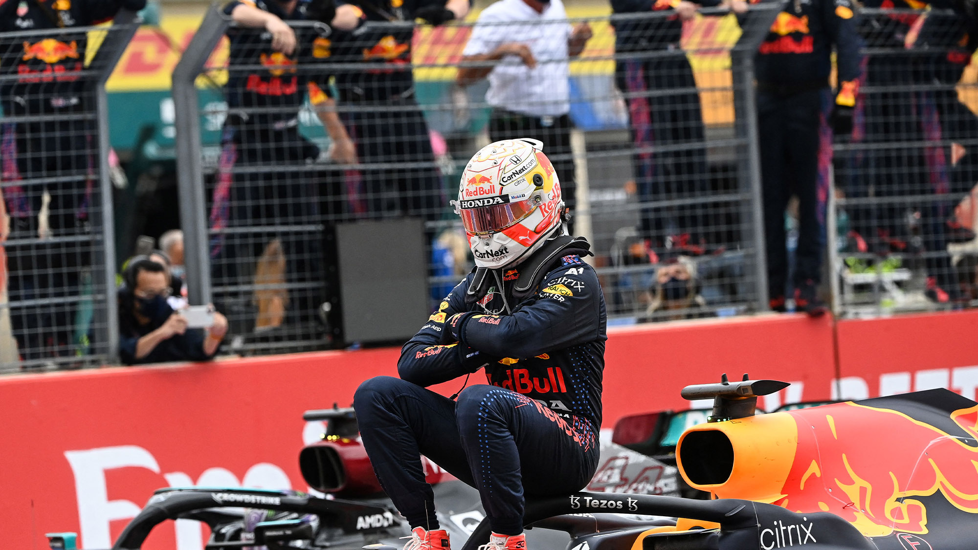 Max Verstappen celebrates winning the 2021 French Grand Prix