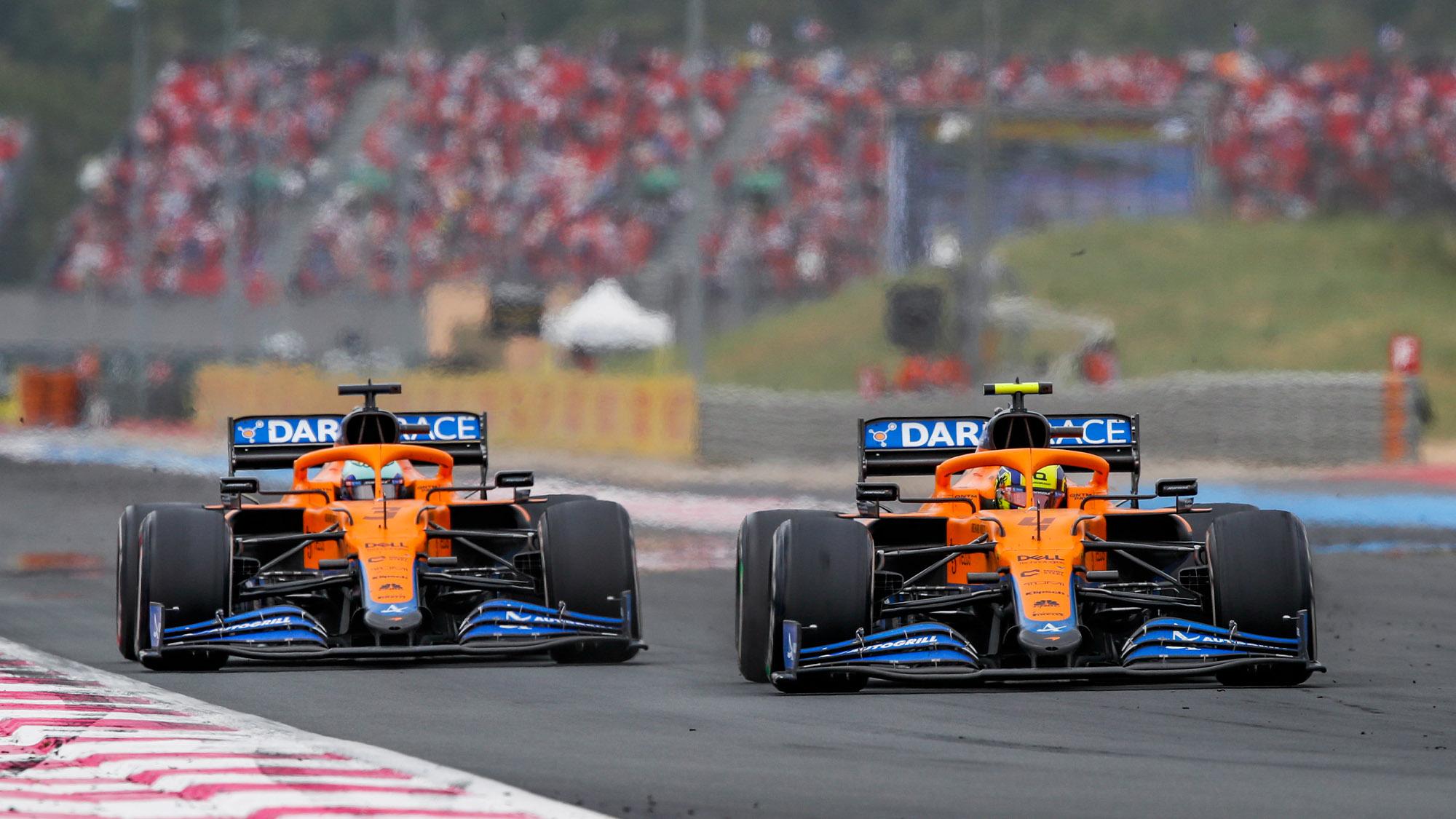 Daniel Ricciardo and Lando Norris in the 2021 French Grand Prix