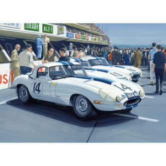 Product image for Le Mans, 16 June 1963 | The Cunningham Team E-Types | Print