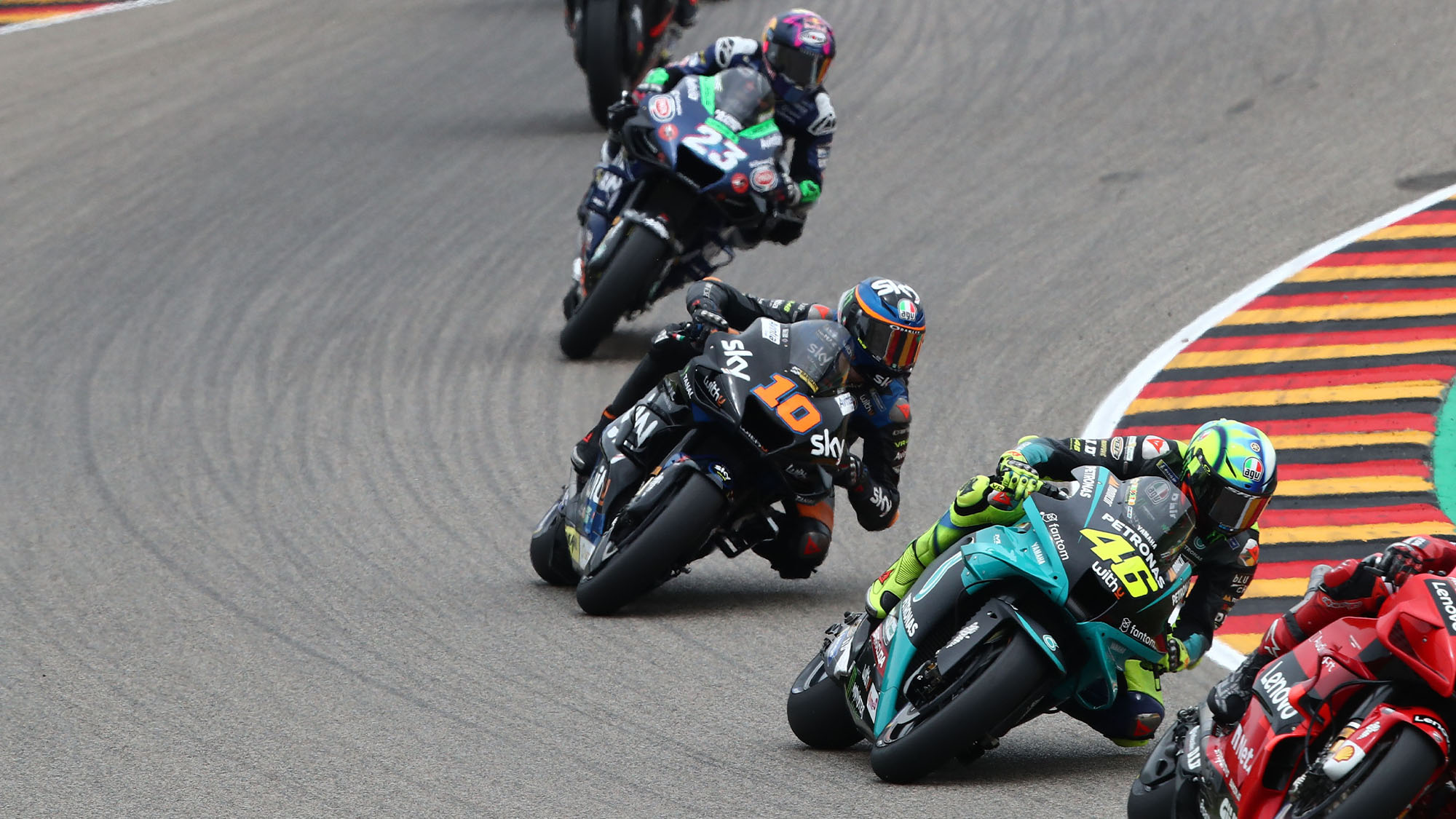 Valentino Rossi at the 2021 MotoGP German GP
