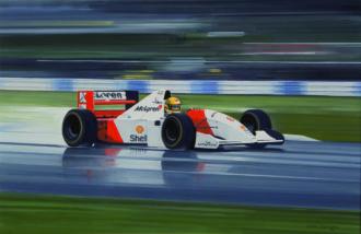 Product image for Donington Park, 11 April 1993   Ayrton Senna   McLaren MP4/8