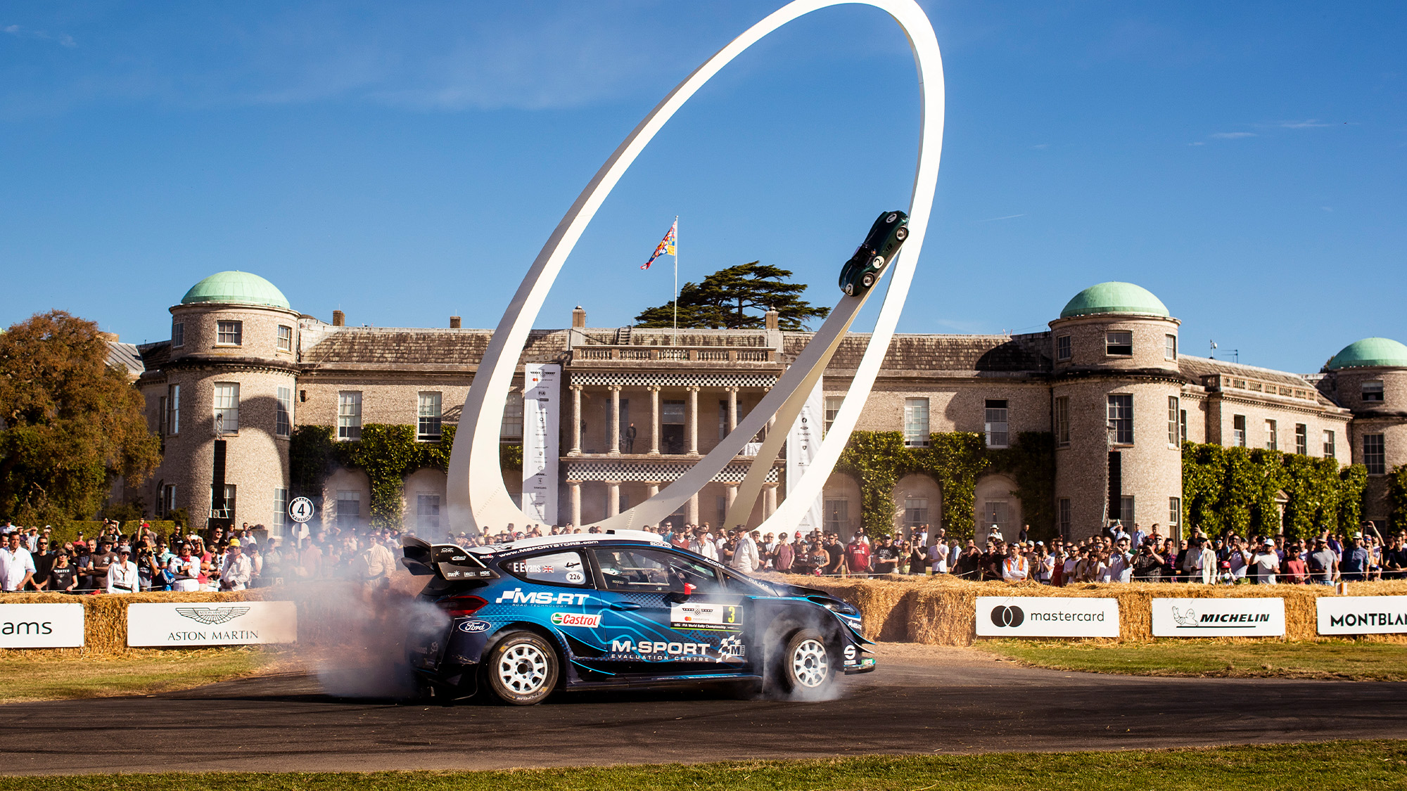 Goodwood Festival of Speed burnout
