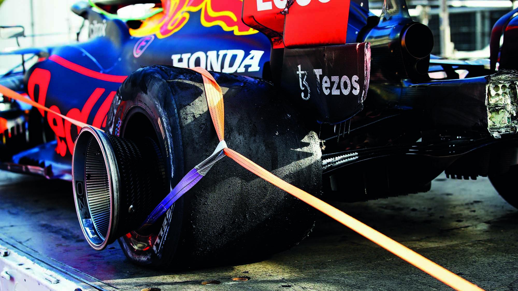 Max-Verstappens-blown-out-rear-tyre-from-Baku-2021