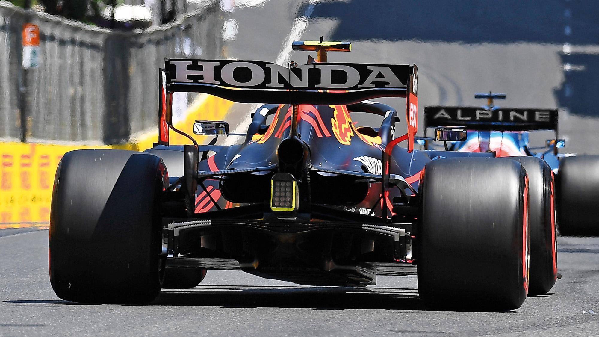 Red Bull rear wing at the 2021 Azerbaijan Grand Prix
