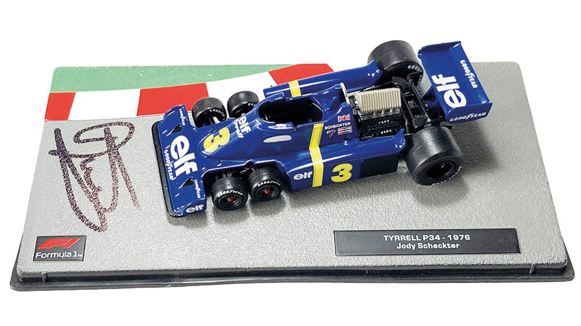 Jody Scheckter signed Tyrrell