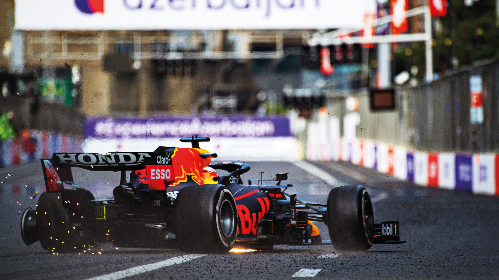 Max Verstappen crashes out of the Azerbaijan Grand Prix