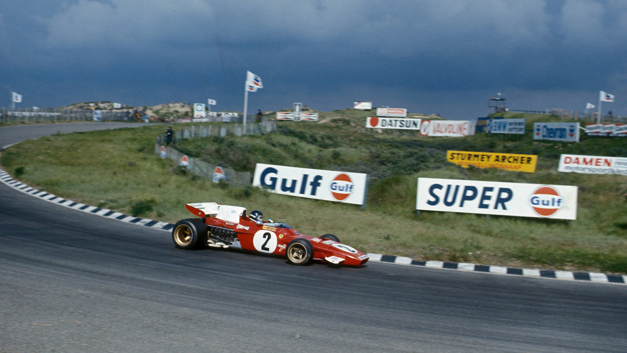 Jacky Ickx on track at the 1971 Dutch Grand Prix