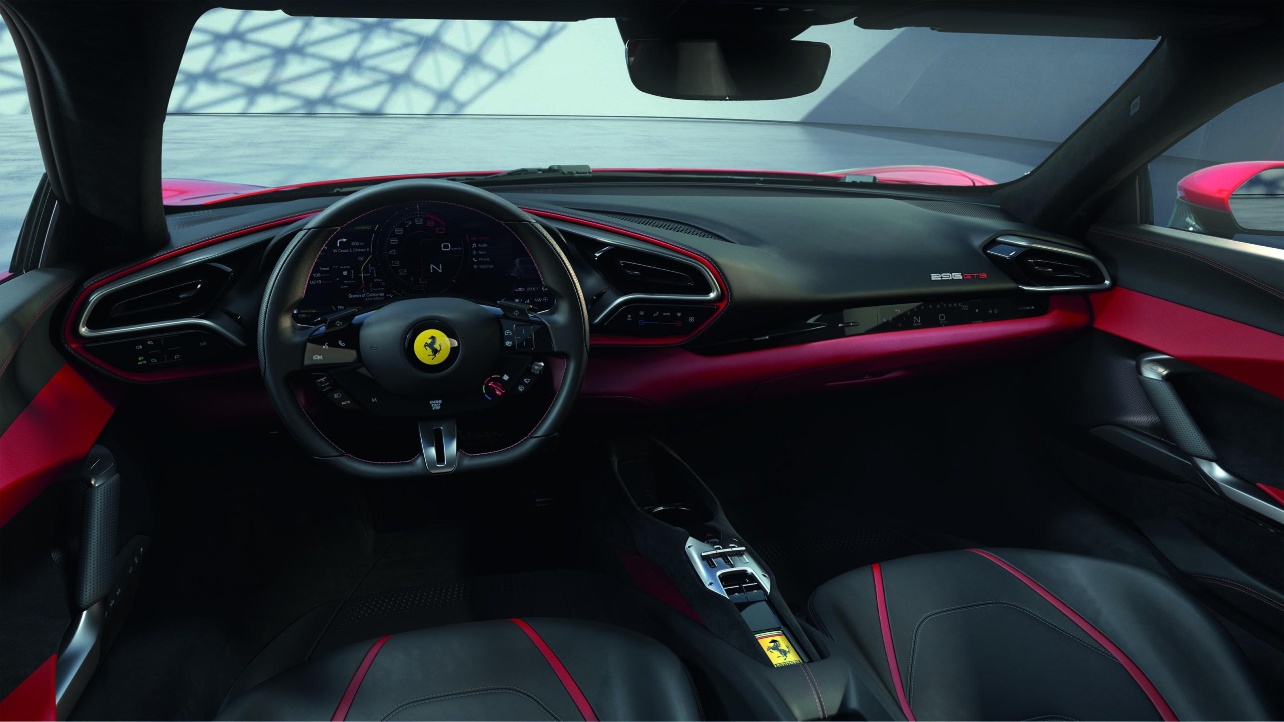 Ferrari-296GTB-interior