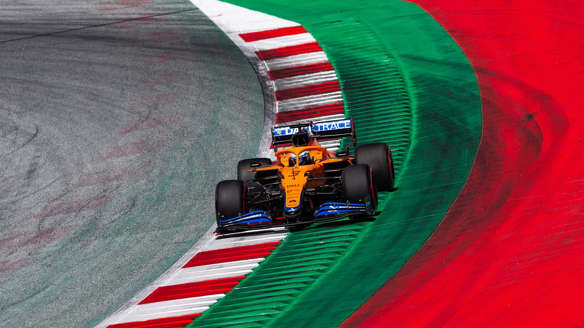 Daniel Ricciardo in qualifying for the 2021 Styrian Grand Prix
