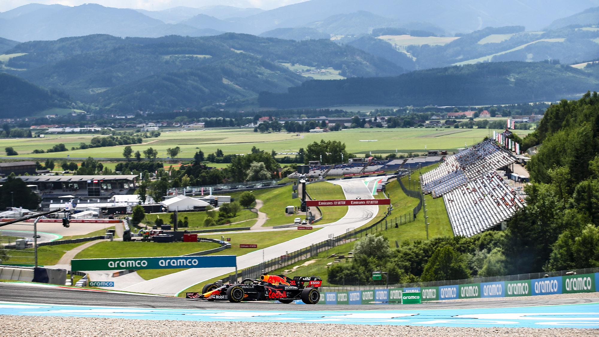 Max Verstappen qualifying for the 2021 Styrian Grand Prix