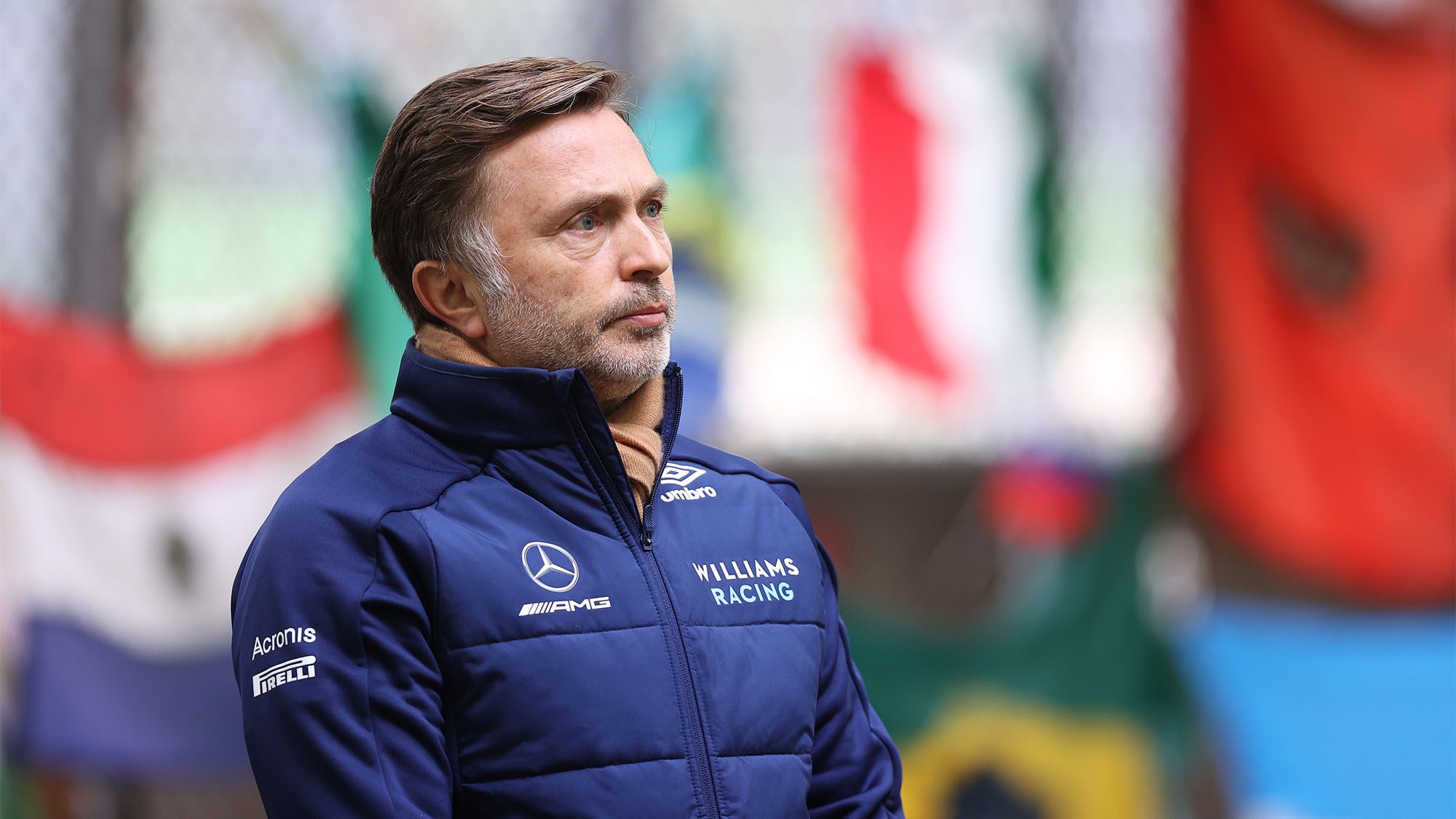 IMOLA, ITALY - APRIL 15: Jost Capito, Chief Executive Officer of Williams Racing looks at the Ayrton Senna memorial during previews ahead of the F1 Grand Prix of Emilia Romagna at Autodromo Enzo e Dino Ferrari on April 15, 2021 in Imola, Italy. (Photo by Lars Baron/Getty Images)