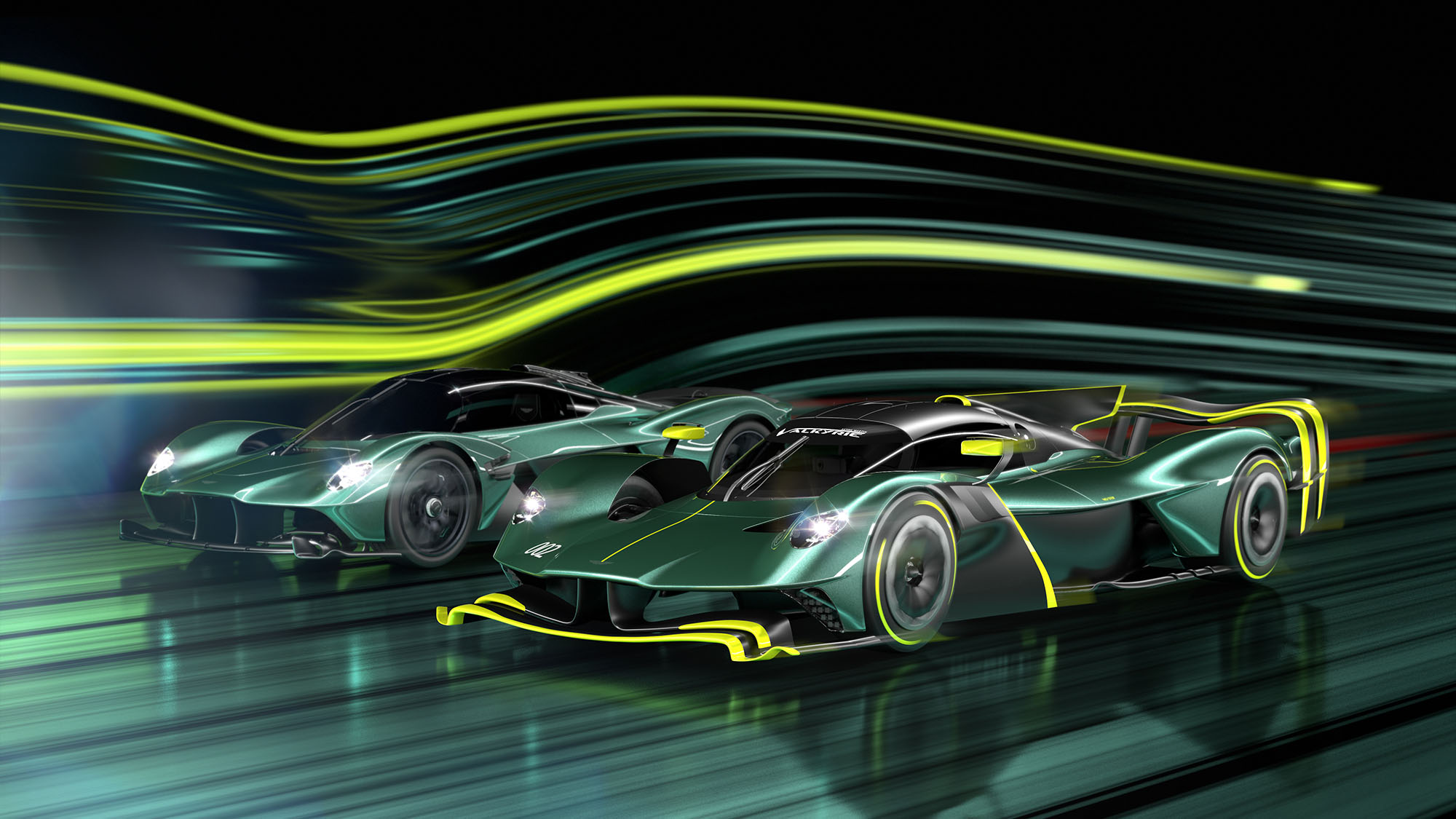 Aston Martin Valkyrie AMR Pro wioth Valkyrie road car