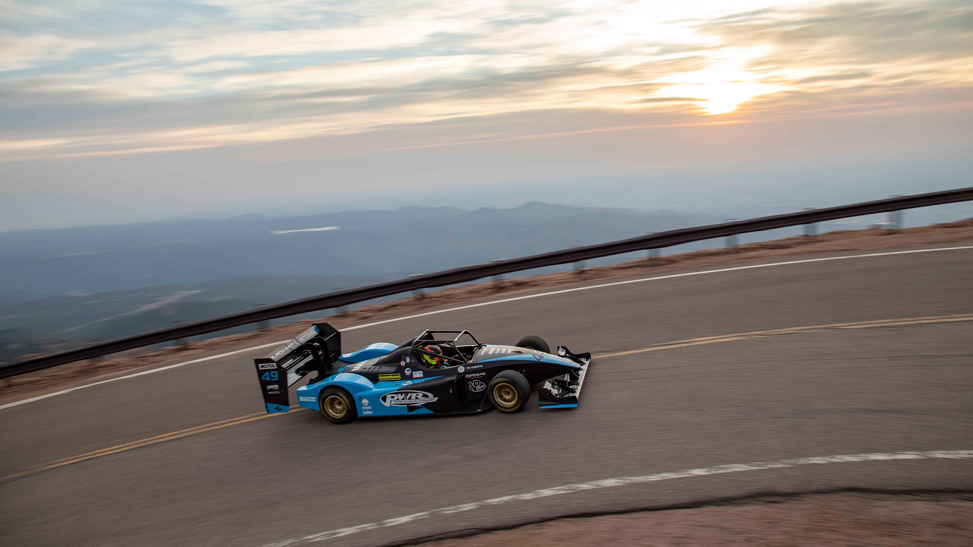 Robin Shute on Pike's Peak at sunset in 2021