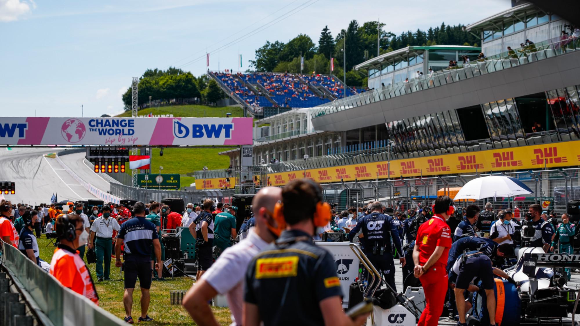 F1 Styrian GP grid 2021