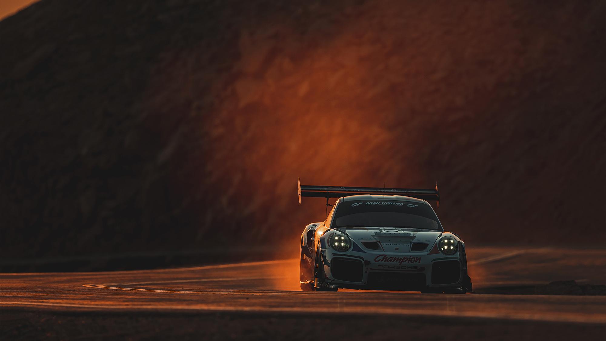 Porsche 911 of Romain Dumas on Pikes Peak in 2021