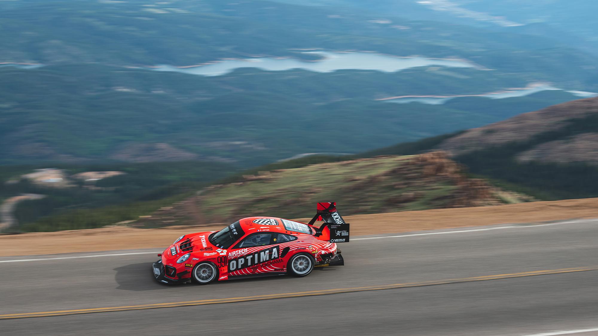 Raphael Astier on Pikes Peak in 2021