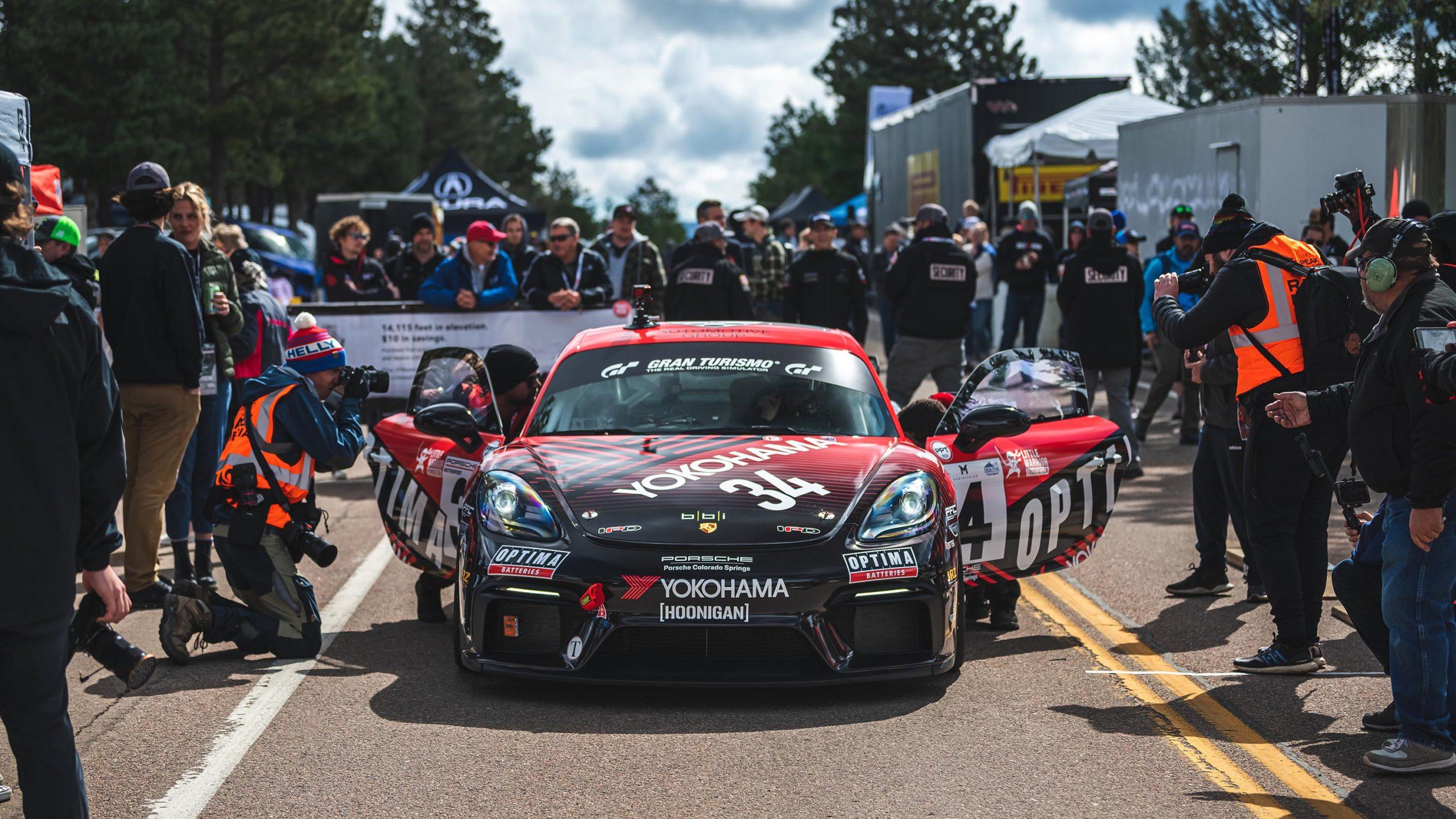 Tanner Foust Porsche 718 Cayman GT4 Clubsport