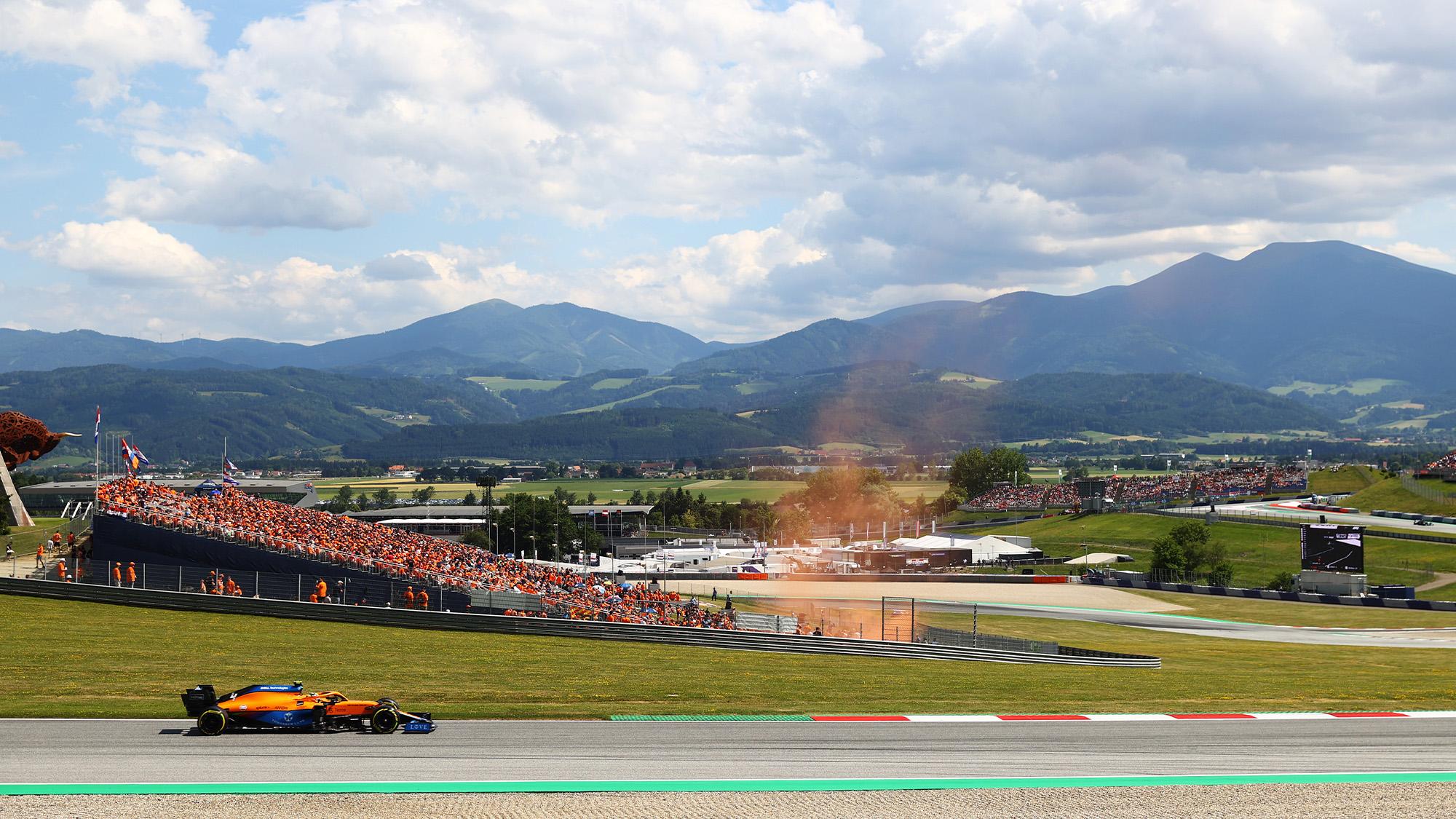 Lando Norris in qualifying for the 2021 Austrian Grand Prix