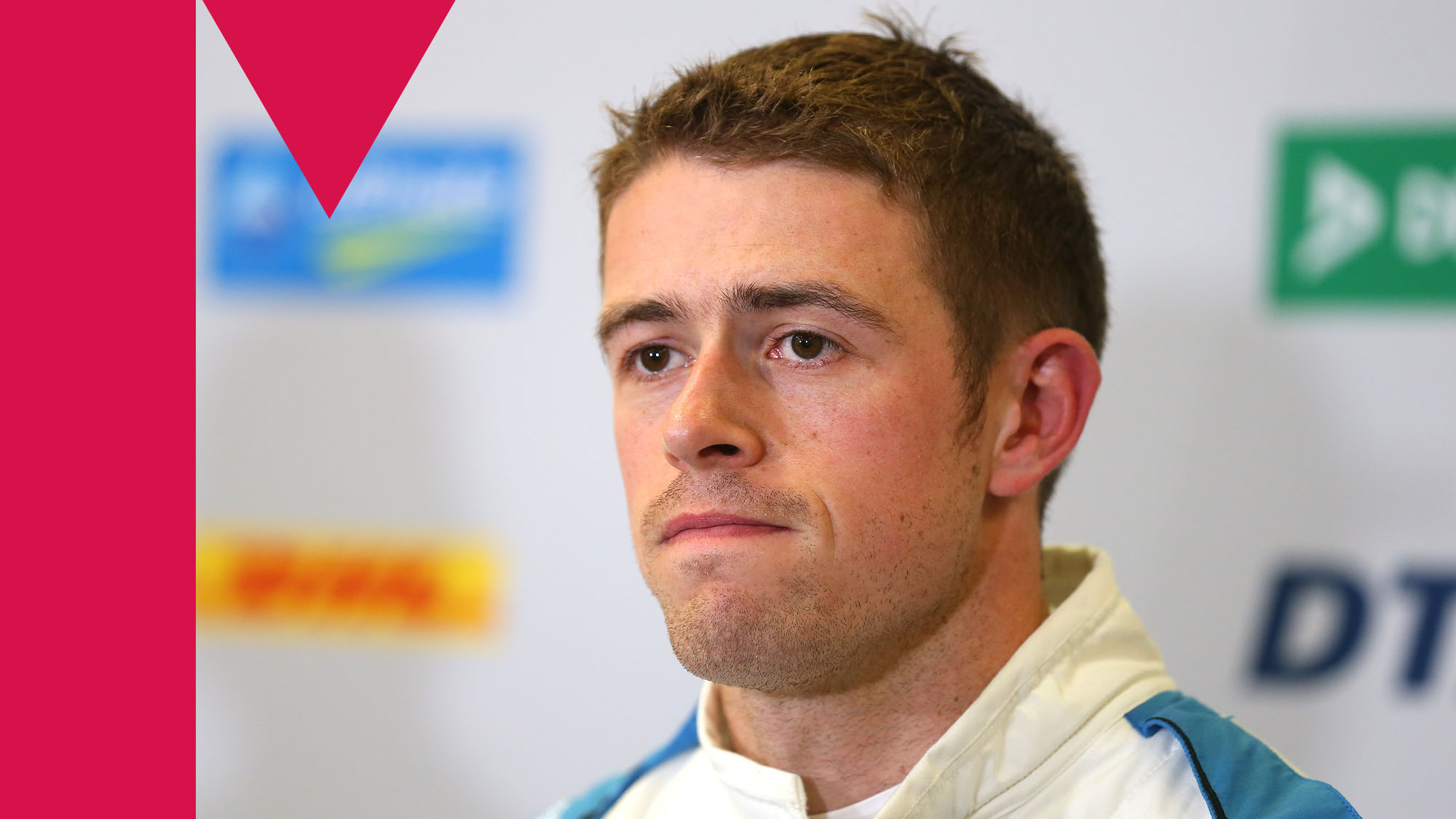 NUREMBERG, GERMANY - JULY 05: Paul Di Resta of Great Britain and R-Motorsport attends a press conference at the DTM 2019 German Touring Car Championship at Norisring on July 05, 2019 in Nuremberg, Germany. (Photo by Alexander Hassenstein/Bongarts/Getty Images)