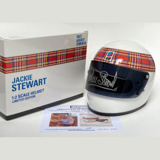 Product image for Jackie Stewart signed   1/2 scale   Full-face helmet