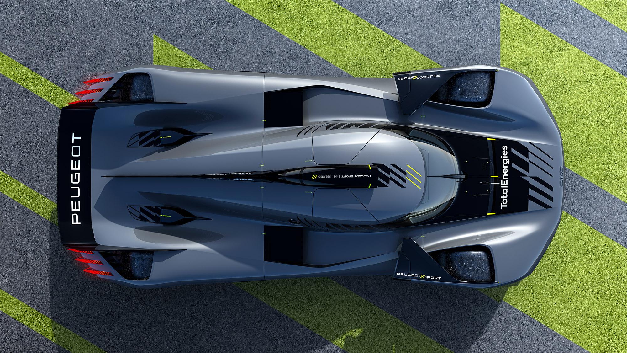 Peugeot hypercar overhead