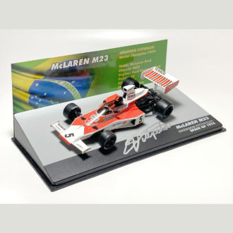 Product image for Emerson Fittipaldi signed 1/43 McLaren M23